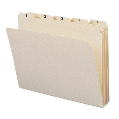 Smead Indexed File Folders, 1-5 Cut, Indexed 1-31, Top Tab, Letter, Manila, 31-set