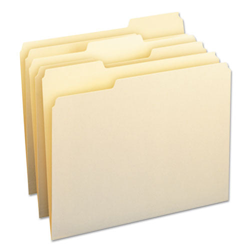 Smead File Folders, 1-3 Cut Assorted, One-Ply Top Tab, Letter, Manila, 24-pack