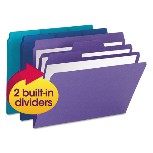Smead Supertab Organizer Folder, 1-3 Cut Top Tab, Assorted, 3-pack