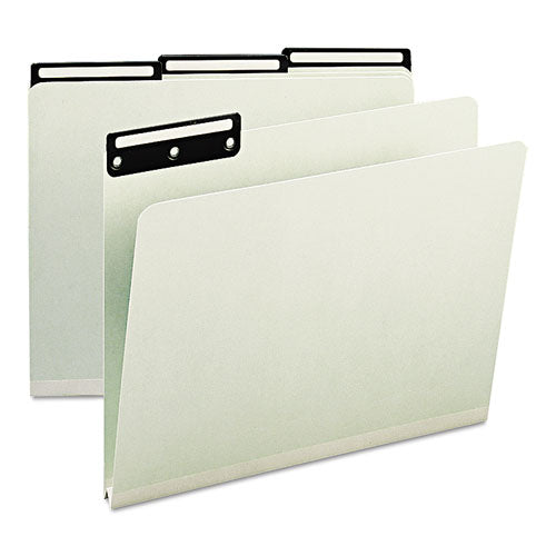 Smead One Inch Expansion Metal Tab Folder, 1-3 Tab, Letter, Gray Green, 25-box