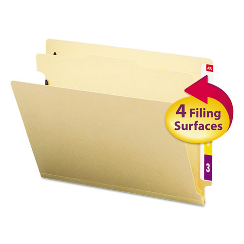 Smead Manila End Tab Classification Folders, Letter, Four-Section, 10-box