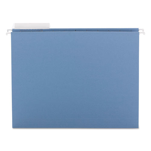 Smead Color Hanging Folders With 1-3-Cut Tabs, 11 Pt. Stock, Blue, 25-bx