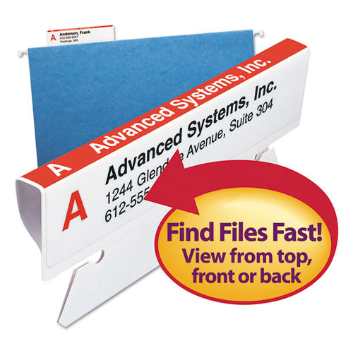 Smead Viewables Hanging Folder Tabs And Labels, Refill, 3 1-2 Inch, Assorted, 100-pack