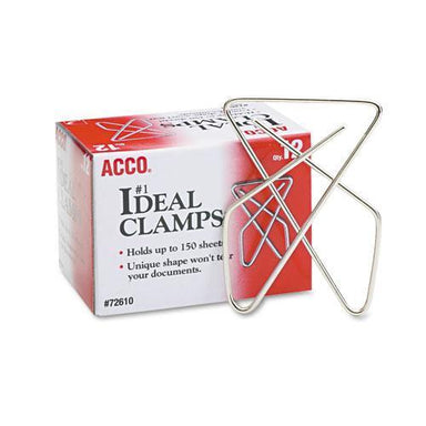ACCO IDEAL CLAMPS, LARGE (NO. 6), SILVER, 12-BOX-ACCO-Omni Supply