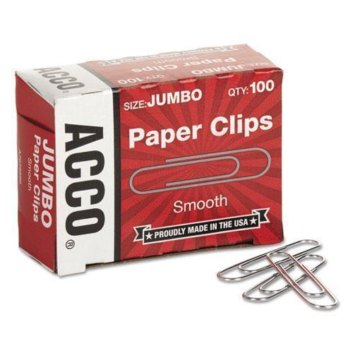 ACCO PAPER CLIPS, JUMBO, SILVER, 1000-PACK-ACCO-Omni Supply
