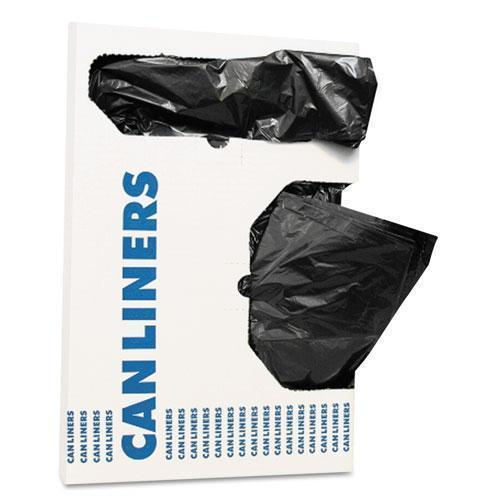 "AccuFit Can Liners, 16 Gal, 1 Mil, Black, 24"" X 32"", 250-carton-AccuFit®-Omni Supply"