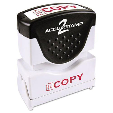 ACCUSTAMP2 Pre-Inked Shutter Stamp, Red, Copy, 1 5-8 X 1-2-ACCUSTAMP2®-Omni Supply
