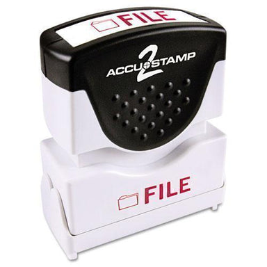 ACCUSTAMP2 Pre-Inked Shutter Stamp, Red, File, 5-8 X 1-2-ACCUSTAMP2®-Omni Supply