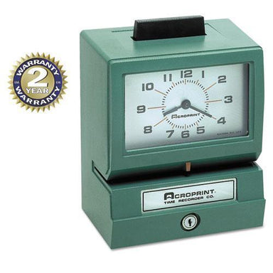 Acroprint Model 125 Analog Manual Print Time Clock With Month-date-0-12 Hours-minutes-Acroprint®-Omni Supply