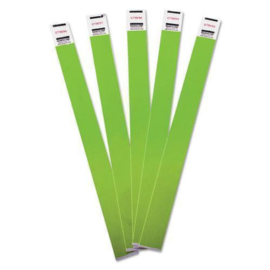 Advantus Crowd Management Wristbands, Sequentially Numbered, 10 X 3-4, Green, 100-pack-Advantus-Omni Supply