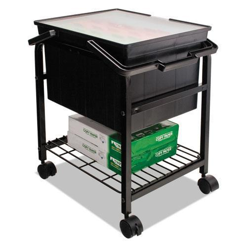 Advantus Heavy-Duty File Shuttle, 17 1-8w X 14 1-4d X 20h, Black-Advantus-Omni Supply