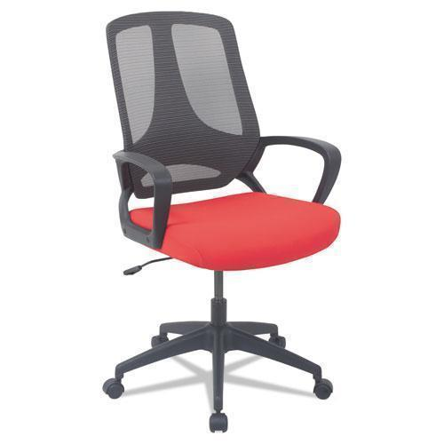 Alera ALERA MB SERIES MESH MID-BACK OFFICE CHAIR, RED-BLACK-Alera®-Omni Supply