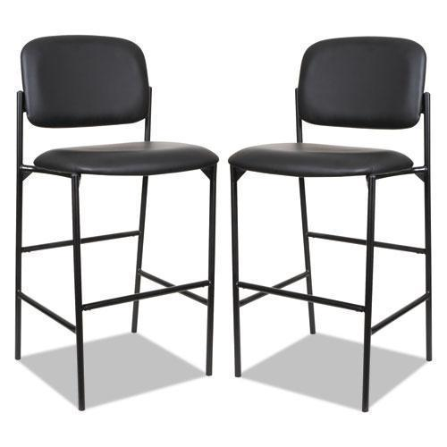Alera ALERA SORRENTO SERIES STOOL, BLACK, FAUX LEATHER, W-O ARMS, 2-CT-Alera®-Omni Supply
