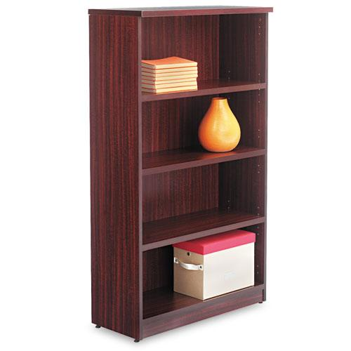 Alera Alera Valencia Series Bookcase, Four-Shelf, 31 3-4w X 14d X 55h, Mahogany-Alera®-Omni Supply