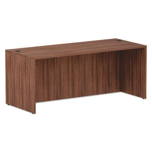 Alera ALERA VALENCIA SERIES STRAIGHT FRONT DESK SHELL, 71 X 29.5 X 29.5, MOD WALNUT-Alera®-Omni Supply