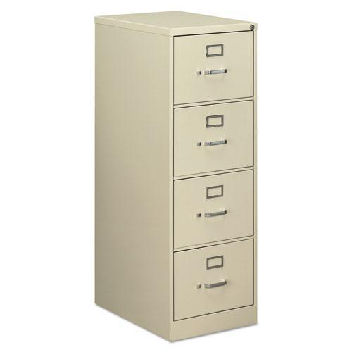 Alera FOUR-DRAWER ECONOMY VERTICAL FILE CABINET, LEGAL, 18 1-4W X 25D X 52H, PUTTY-Alera®-Omni Supply