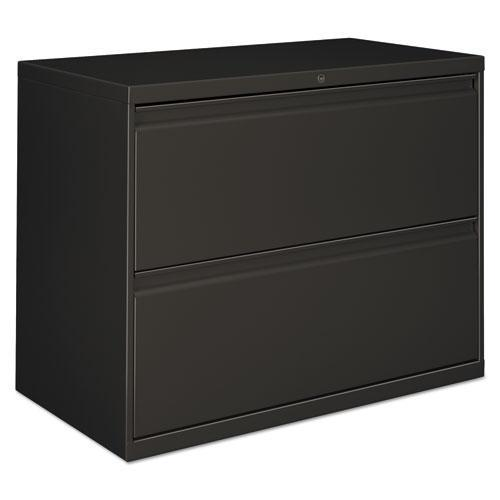 Alera TWO-DRAWER LATERAL FILE CABINET, 36W X 18D X 28H, CHARCOAL-Alera®-Omni Supply