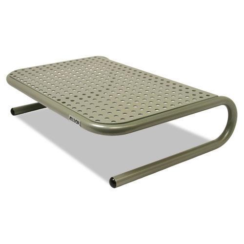 "Allsop Metal Art Jr. Monitor Stand, 11"" X 14 1-2"" X 4 1-2"", Pewter-Allsop®-Omni Supply"