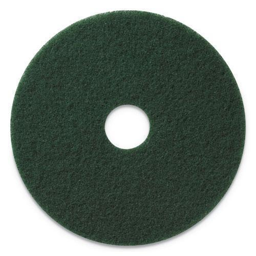 "Americo SCRUBBING PADS, 13"" DIAMETER, GREEN, 5-CT-Americo®-Omni Supply"