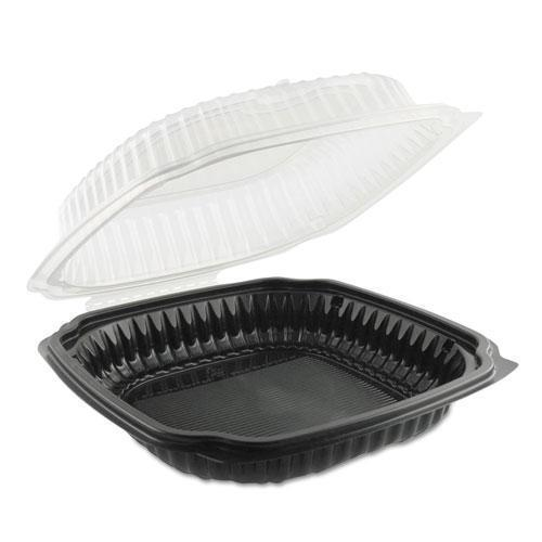 Anchor Pac Culinary Classics Microwavable Container, 39 Oz, Clear-black, 100-carton-Anchor Packaging-Omni Supply