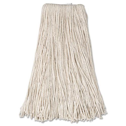 AnchorBran Cut-End Mop Head, Cotton, 24oz, White-Anchor Brand®-Omni Supply