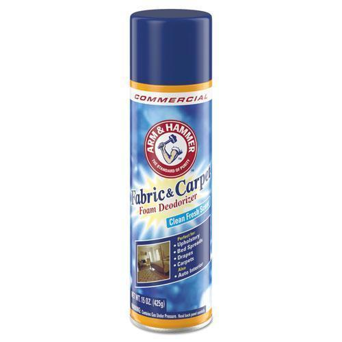 ArmHammer Fabric And Carpet Foam Deodorizer, Fresh Scent, 15 Oz Aerosol, 8-carton-Arm & Hammer™-Omni Supply