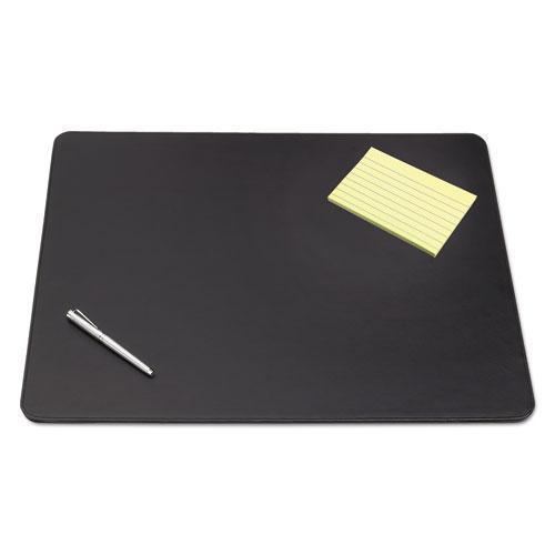 Artistic Sagamore Desk Pad W-decorative Stitching, 38 X 24, Black-Artistic®-Omni Supply