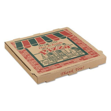 ARVCO CORRUGATED PIZZA BOXES, 14 X 14 X 1 3-4, KRAFT, 50-CARTON-ARVCO-Omni Supply