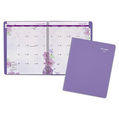 ATAGLANCE BEAUTIFUL DAY MONTHLY PLANNER, 8 1-2 X 11, PURPLE, 2019-AT-A-GLANCE®-Omni Supply