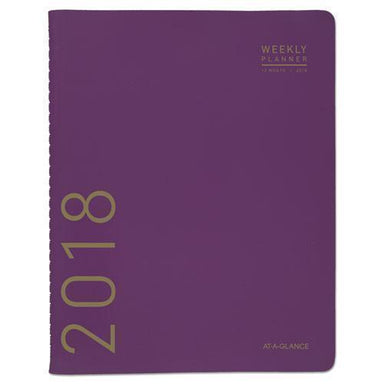 ATAGLANCE CONTEMPORARY MONTHLY PLANNER, 9 1-2 X 11 1-8, PURPLE, 2019-AT-A-GLANCE®-Omni Supply