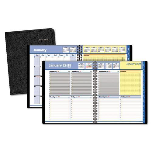 ATAGLANCE QUICKNOTES WEEKLY-MONTHLY APPOINTMENT BOOK, 8 X 9 7-8, BLACK, 2019-AT-A-GLANCE®-Omni Supply