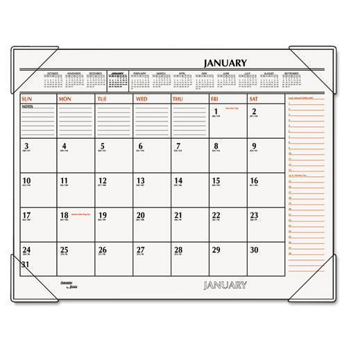 ATAGLANCE TWO-COLOR MONTHLY DESK PAD CALENDAR, 22 X 17, 2019-AT-A-GLANCE®-Omni Supply