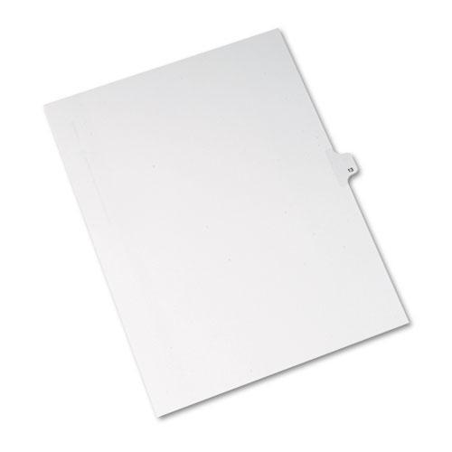 Avery Allstate-Style Legal Exhibit Side Tab Divider, Title: 13, Letter, White, 25-pack-Avery®-Omni Supply