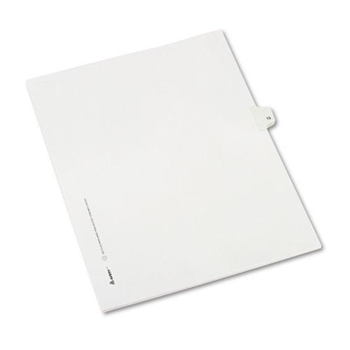 Avery Allstate-Style Legal Exhibit Side Tab Divider, Title: 15, Letter, White, 25-pack-Avery®-Omni Supply