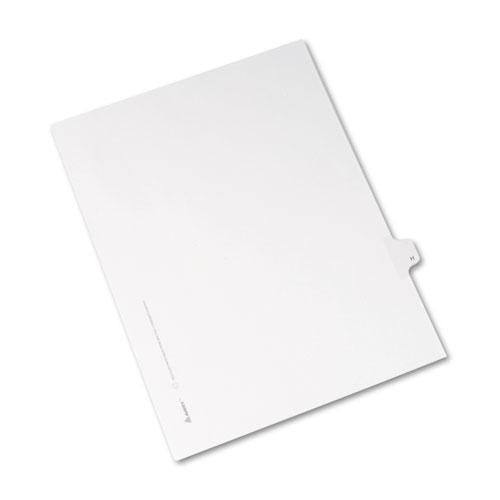 Avery Allstate-Style Legal Exhibit Side Tab Divider, Title: H, Letter, White, 25-pack-Avery®-Omni Supply