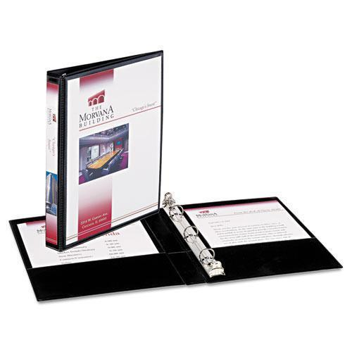 "Avery Mini Size Durable View Binder W-round Rings, 8 1-2 X 5 1-2, 1-2"" Cap, Black-Avery®-Omni Supply"