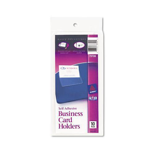 Avery Self-Adhesive Business Card Holders, Top Load, 3-1-2 X 2, Clear, 10-pack-Avery®-Omni Supply