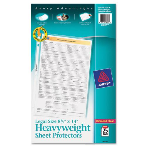 Avery Top-Load Polypropylene Sheet Protector, Heavy, Legal, Diamond Clear, 25-pack-Avery®-Omni Supply