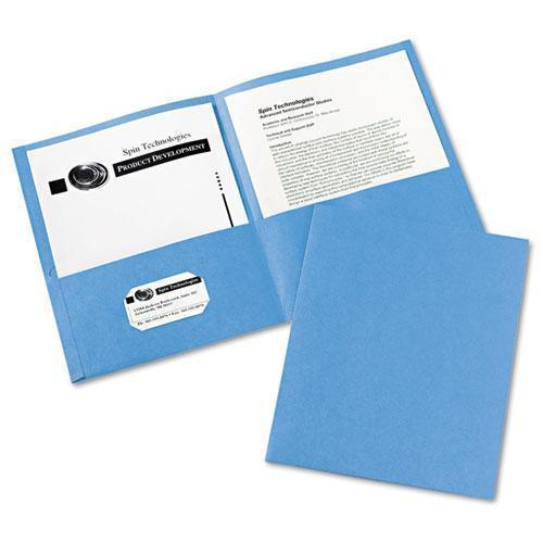 Avery Two-Pocket Folder, 40-Sheet Capacity, Light Blue, 25-box-Avery®-Omni Supply