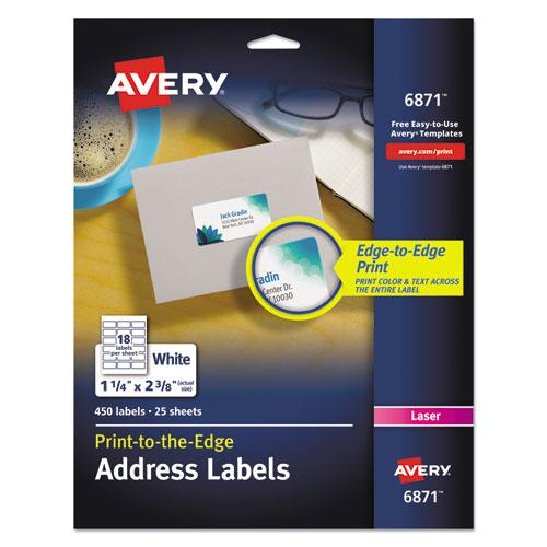 Avery Vibrant Color-Printing Address Labels, 1 1-4 X 2 3-8, White, 450-pack-Avery®-Omni Supply