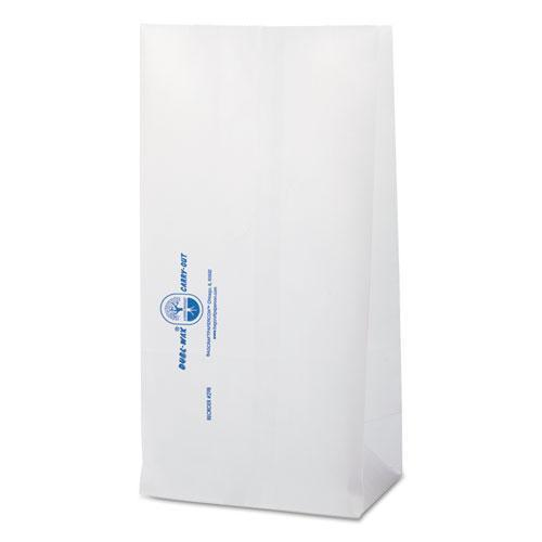 Bagcraft Dubl Wax Grease-Resistant Bakery Bags, 6 1-8 X 4 X 12 3-8, White, 1000-carton-Bagcraft-Omni Supply