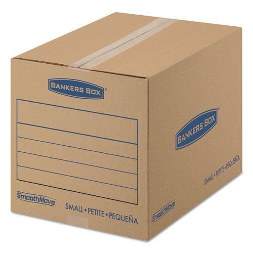 BankersBox SMOOTHMOVE BASIC SMALL MOVING BOXES, 16L X 12W X 12H, KRAFT-BLUE, 25-BUNDLE-Bankers Box®-Omni Supply