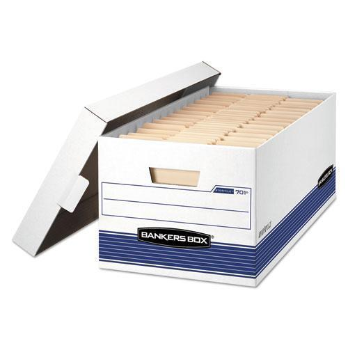 BankersBox STOR-FILE MEDIUM-DUTY STORAGE BOXES, 12W X 25.375D X 10.25H, WHITE-Bankers Box®-Omni Supply