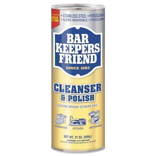 BarKeepers Powdered Cleanser And Polish, 21 Oz Can-Bar Keepers Friend®-Omni Supply