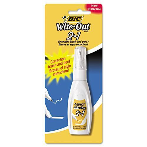 BIC Wite-Out 2-In-1 Correction Fluid, 15 Ml Bottle, White-BIC®-Omni Supply