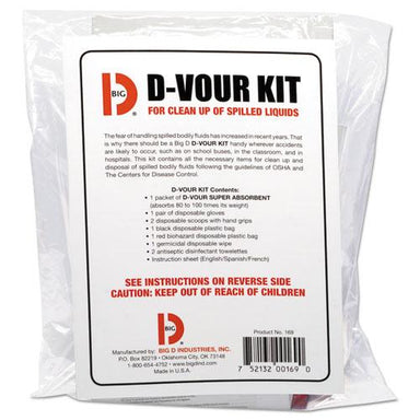 BigDIndus D'vour Clean-Up Kit, Powder, All Inclusive Kit, 6-carton-Big D Industries-Omni Supply