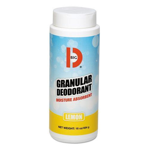 BigDIndus Granular Deodorant, Lemon, 16oz, Shaker Can, 12-carton-Big D Industries-Omni Supply