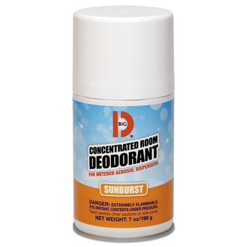 BigDIndus Metered Concentrated Room Deodorant, Sunburst Scent, 7 Oz Aerosol, 12-carton-Big D Industries-Omni Supply