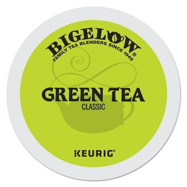 Bigelow Green Tea K-Cup Pack, 24-box, 4 Box-carton-Bigelow®-Omni Supply