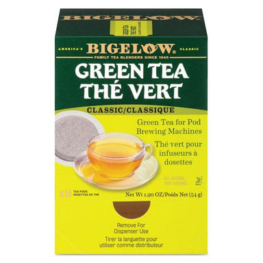 Bigelow Green Tea Pods, 1.90 Oz, 18-box-Bigelow®-Omni Supply